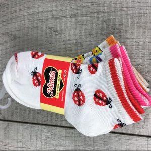 MAMIA Girls Socks Size 4-6 NWT